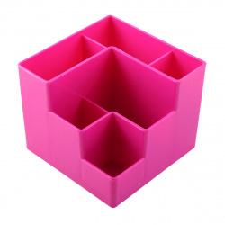 Настольная подставка для канцелярских принадлежностей 6отд Оскол Пласт розовая