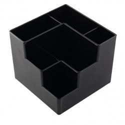 Настольная подставка для канцелярских принадлежностей 6отд Оскол Пласт черная