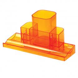 Настольная подставка для канцелярских принадлежностей 4 отделения, оранжевый Tower deVENTE 4102509