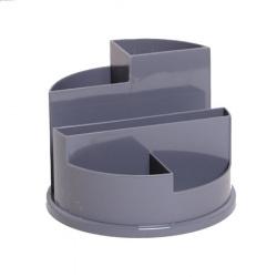 Настольная подставка для канцелярских принадлежностей 6отд Attomex Classic 4102401 серая