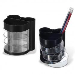 Настольная подставка для канцелярских принадлежностей 6отд Mazari M-9301 черная
