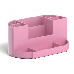 Настольная подставка для канцелярских принадлежностей 9отд Erich Krause Victoria, Pastel 51481 розовый