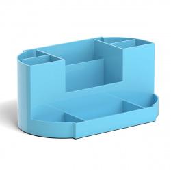 Настольная подставка для канцелярских принадлежностей 9отд Erich Krause Victoria, Pastel 51482 голубой