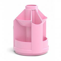 Настольная подставка для канцелярских принадлежностей 10отд Erich Krause Mini Desk Pastel 51470 розовый