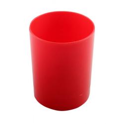 Настольная подставка-стакан для канцелярских принадлежностей Пчелка ОР-2 красная
