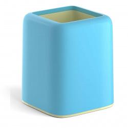 Настольная подставка-стакан для канцелярских принадлежностей Erich Krause Forte Pastel 51553 голубой с желтой вставкой