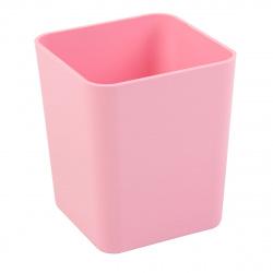 Настольная подставка-стакан для канцелярских принадлежностей Erich Krause Base Pastel 51497 розовая