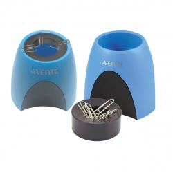 Настольная подставка-стакан для канцелярских принадлежностей с магнитным держателем deVENTE 4104722 голубая