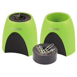 Настольная подставка-стакан для канцелярских принадлежностей с магнитным держателем deVENTE 4104721 салатовая