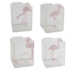 Настольная подставка-стакан для канцелярских принадлежностей 1 отделение, прозрачный Фламинго CHEN YU 205498