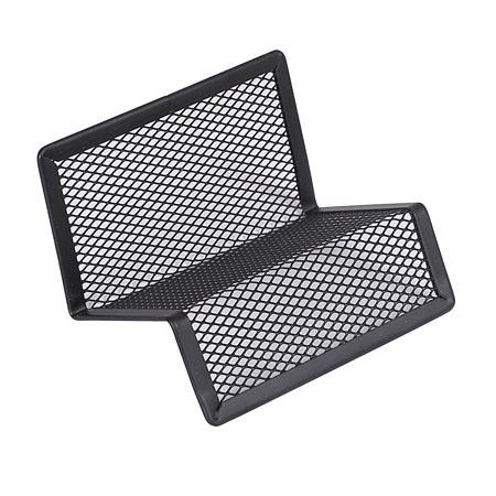 Подставка для визиток настольная 100*100 металлическая KLERK 183007 черная