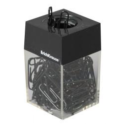 Скрепочница магнитная, 100 черных скрепок 28мм Erich Krause 22096 черная