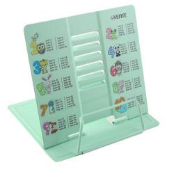 Подставка для книг металлическая deVENTE Таблица умножения 8063902 зеленая европодвес