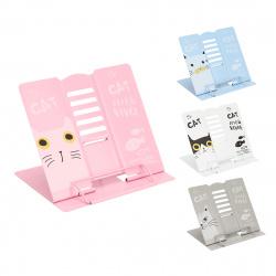 Подставка для книг металлическая 190*210 KLERK MQ Cat 209014 ассорти 4 вида