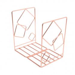 Подставка-ограничитель для книг набор 2шт КОКОС MQ Квадро 209011 розовое золото