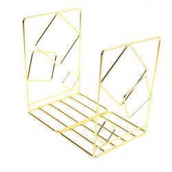 Подставка-ограничитель для книг набор 2шт KLERK MQ Квадро 209012 золото