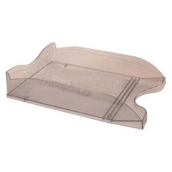 Лоток для бумаг горизонтальный Стамм Люкс ЛТ62 тонированный серый