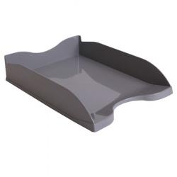 Лоток для бумаг горизонтальный Стамм Люкс ЛТ64 серый