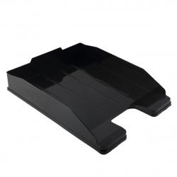 Лоток для бумаг горизонтальный Стамм Эксперт ОФ444 черный