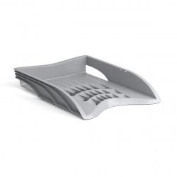 Лоток для бумаг горизонтальный Erich Krause S-WING 21996 серый