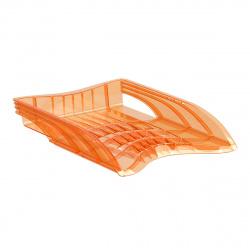 Лоток для бумаг горизонтальный Erich Krause S-Wing Neon 51508 оранжевый