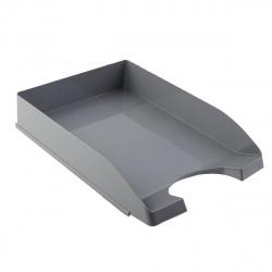Лоток для бумаг горизонтальный пластик, цвет серый   Оскол Пласт 2-04