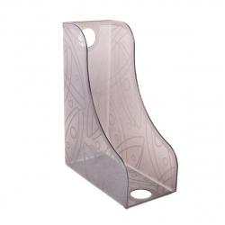 Лоток для бумаг вертикальный Стамм ЛТ371 тонированный серый