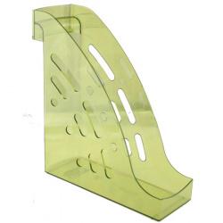 Лоток для бумаг вертикальный Стамм Торнадо ЛТ406 тонированный лайм