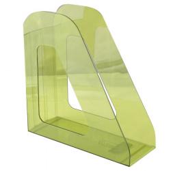 Лоток для бумаг вертикальный Стамм Фаворит ЛТ707 тонированный лайм