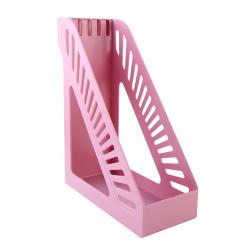 Лоток для бумаг вертикальный KLERK Стандарт ЛК-3169/211898 розовый