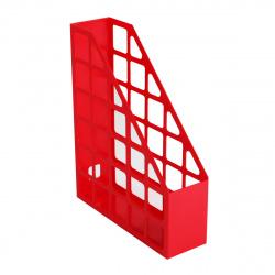 Лоток для бумаг вертикальный пластик, 1 отделение, сменная этикетка, цвет красный   Оскол Пласт 2-03