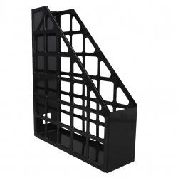 Лоток для бумаг вертикальный пластик, 1 отделение, сменная этикетка, цвет черный   Оскол Пласт 2-03