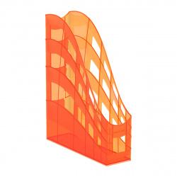 Лоток для бумаг вертикальный Erich Krause S-Wing Neon 51512 оранжевый