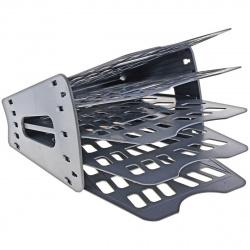 Лоток для бумаг веерный 5-ти секционный Оскол Пласт 2-15-С серый