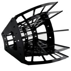 Лоток для бумаг веерный 5-ти секционный Стамм Эконом ЛТ414 черный