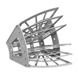 Лоток для бумаг веерный 6-ти секционный Стамм Эконом ЛТ417 серый