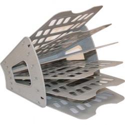 Лоток для бумаг веерный 6-ти секционный Стамм ЛТ95 серый