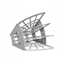 Лоток для бумаг веерный 7-ми секционный Стамм Эконом ЛТ419 серый