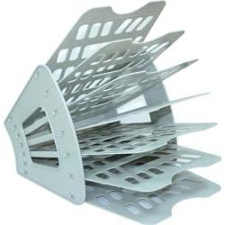 Лоток для бумаг веерный 7-ми секционный Стамм ЛТ40 серый