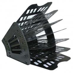 Лоток для бумаг веерный 7-ми секционный Оскол Пласт 2-17-4/7-06 черный