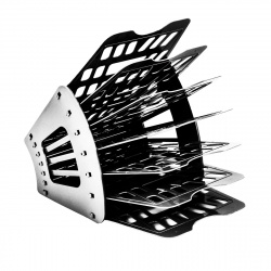 Лоток для бумаг веерный 7-ми секционный, пластик, цвет серый   Пчелка ЛБ-7