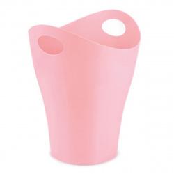 Корзина для бумаг 8л цельная 8л Стамм Pastel КР163 розовая