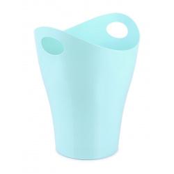 Корзина для бумаг 8л цельная Стамм Pastel КР160 голубая
