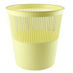 Корзина для бумаг 12л, пластик, сетчатый, форма круглая, цвет желтый Tukzar TZ 11824-14