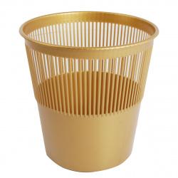 Корзина для бумаг 12л сетчатая Tukzar TZ 11824-5/S 99303-5 золото