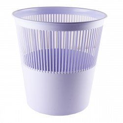 Корзина для бумаг 12л, пластик, сетчатый, форма круглая, цвет сиреневый Tukzar TZ 11824-18