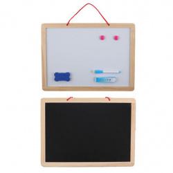 Доска магнитно-маркерная/меловая настенная А3 (30*40см) деревянная рамка КОКОС 180671
