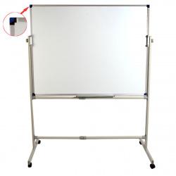 Доска магнитно-маркерная А0 (90*120см) алюминиевая рамка, полочка, двусторонняя, мобильная KLERK PREMIUM 200662