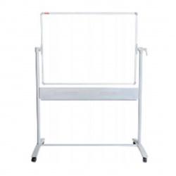Доска магнитно-маркерная А0 (120*150см) алюминиевая рамка, полочка, двусторонняя, мобильная KLERK PREMIUM 210193