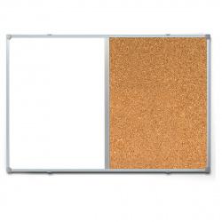 Доска магнитно-маркерная/пробковая А1 (60*90см) алюминиевая рамка, полочка inФОРМАТ DK6090